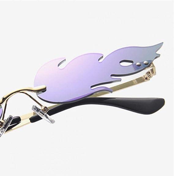 Lankater Flamme Sonnenbrille Feuer Randlos Welle Sonnenbrillen Grenzen Brillen Dress-up Zubeh/ör 1pc