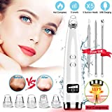 Blackhead Remover, Blackhead Remover Vacuum Pore Cleaner Electric Blackhead Suction, Facial Skin Pore Cleanser Device Acne Comedone Extractor Tool USB with Hot Compress 5 Probes for Nose Face Women