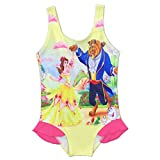 Hababy Little Big Girls One Piece Swimsuit Cartoon Beauty and The Beast Cover Skirts Bathing Suit Swimwear 2-8 Years