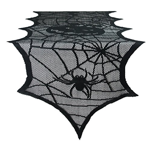 [DII Halloween Lace Table Runner for Halloween Parties, Décor, Dinners, 18x72