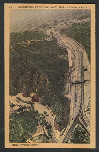 Cahuenga Pass Parkway Hollywood Bowl CA postcard ()