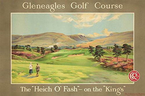 Gleneagles Golf Course Vintage Poster (artist: Anonymous) UK c. 1928 (12x18 SIGNED Print Master Art Print w/Certificate of Authenticity - Wall Decor Travel Poster)