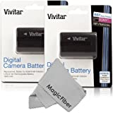 (2 Pack) Vivitar NP-FM500H Ultra High Capacity 1800mAH Li-ion Batteries for SONY Alpha A58, A57, A65, A77, A99, A900, A700, A580, A560, A550, A850 (Sony NP-FM500H Replacement)