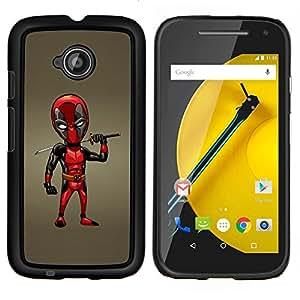 LECELL--Funda protectora / Cubierta / Piel For Motorola Moto E2 E2nd Gen -- Samurai Espada Dead P Superhero --
