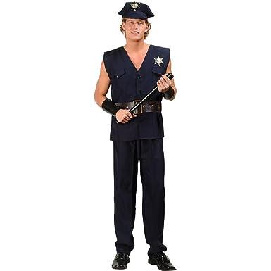 Amazon.com: Sexy Cop disfraz de los hombres: Clothing