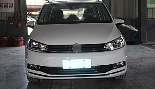 GOWE Car Styling For VW Touran headlights 2016 -For Touran head lamp led DRL front Bi-Xenon Lens Double Beam HID KIT Color Temperature:4300k;Wattage:55w 4