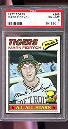 1977 topps #265 MARK FIDRYCH detroit tigers rookie card BGS BCCG 8 Graded Card