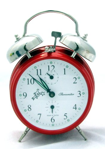 Sternreiter Double-bell Mechanical Alarm Clock - Fire Red ()