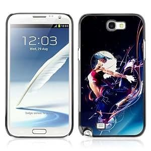 YOYOSHOP [Cool Abstract Space Woman] Samsung Galaxy Note 2 Case Kimberly Kurzendoerfer