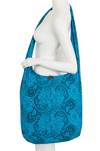 100 Design Transport Mary Flower Rackets Thai Shoulder Means Heavy Cotton With Black Blue Hippy Text Bag Boho Tennis Bag Paisley Canvas Tanana Bag Purse w7YaYqp