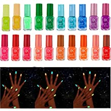 2017 Hot Nail Art!Elevin(TM)20 Candy Colors Fluorescent Neon Luminous Nail Polish Glow In Dark Nails Art Varnish Manicure (B)