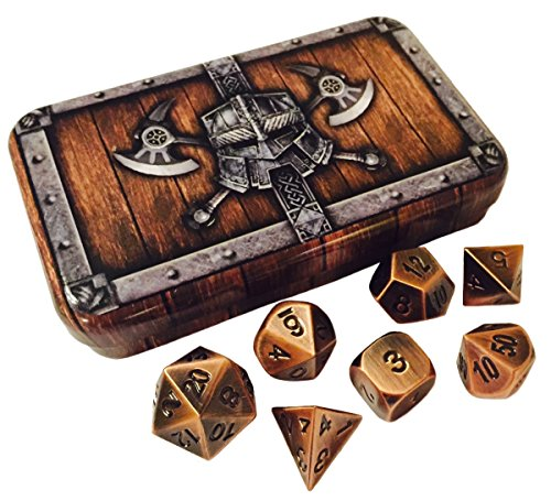 Skull Splitter Antique Polyhedral Dice product image