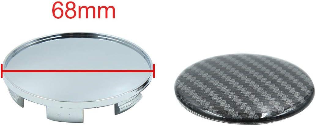 Sourcing Map 4stk 6 Clips Radreifen Center Nabe Kappen Abdeckung Für Autos Silber 68mm Dmr Auto