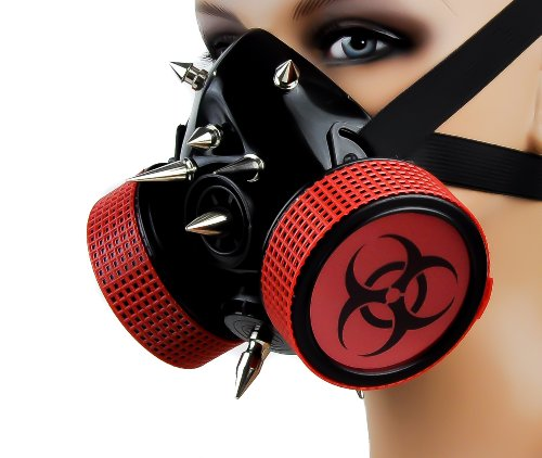 [Red Bio Hazard Sign Cosplay Mask] (Well Thought Out Halloween Costumes)