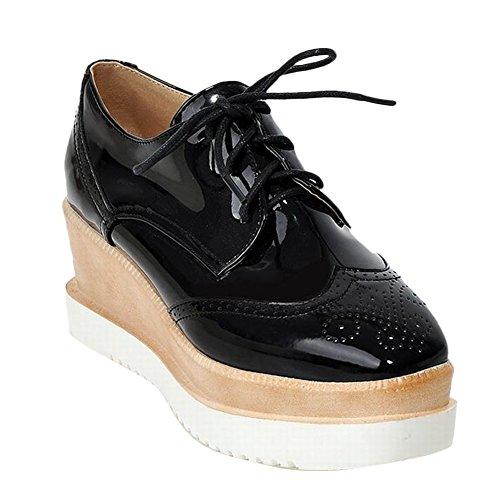 Latasa Platform Black up Wedge Lace Shoes Women's vqr6wtq