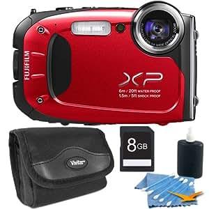 Fujifilm FinePix XP60 16 MP Waterproof Shockproof Freezeproof Digital Camera Red Kit