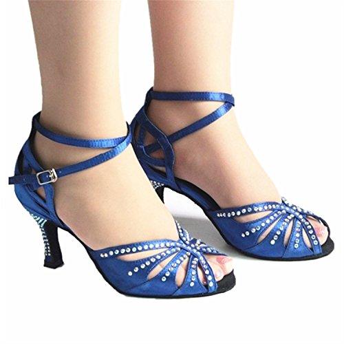 Adultos Jazz Latino Verano Zapatos Baile de de de Onecolor de Baile Latino Zapatos BYLE Modern Sandalias Cuero Zapatos de de Samba Tobillo Baile Tira Zapatos XXOxwTZ