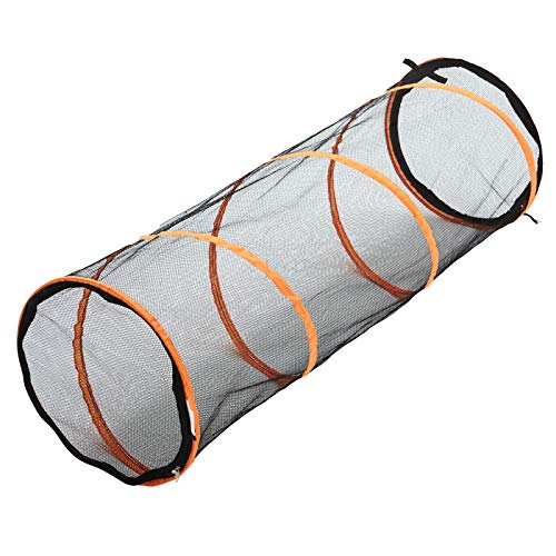 RORAIMA Collapsible Mesh Cat Play Tunnel for Indoor cat Size 17'x17'x59' (45CMx45CMX150CM) for...