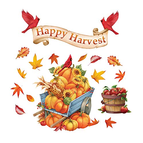 Collections Etc Happy Harvest Garage Door Magnets, Outdoor Fall Decorations - Removable and Reusable