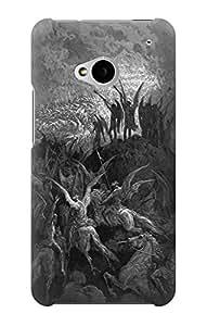 E1026 Gustave Dore Paradise Lost Funda Carcasa Case para HTC ONE M7