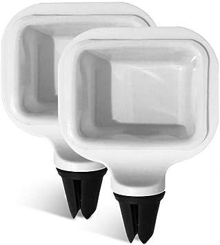 Wateralone Saucen Halter Für Kfz Abnehmbar Wiederverwendbar Saucem Clip Saucen Halter Für Ketchup Dip Saucen Mini Dip Becher Saucen Container Für Lüftungsschlitze Des Fahrzeugs 2 Stück Weiß Küche Haushalt