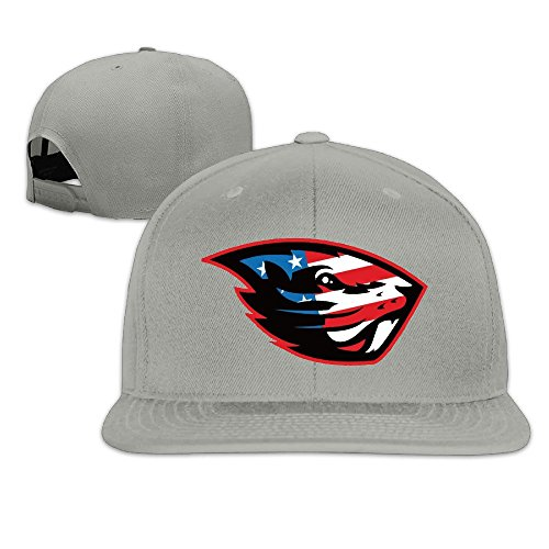 Fashion-Unisex-Oregon-State-Beavers-US-Flag-Flat-Snapback-Baseball-Cap-Ash