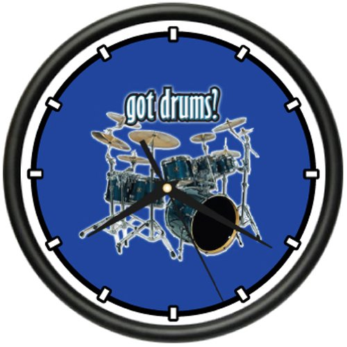 - SignMission Wall Clock New Drum Drummer Band Music Gift, Beagle