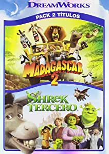 Shrek tercero+madagascar 2 [DVD]