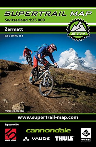 Supertrail Map Zermatt: Maßstab 1:25 000