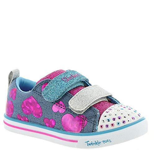 - Skechers Kids Girls' Sparkle LITE-Flutter FAB Sneaker, Denim/Multi, 10 Medium US Toddler