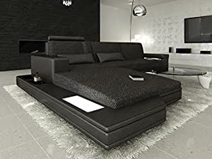 Modern Fabric Sofa MESSANA L with Lights