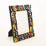 Photo Frame - Recycled Pencils - Hand Crafted Frame by Simply Natural Bliss - 7x5 in - Unique Picture Frame for Horizontal or Vertical Pictures - Great for Kids and Families - Recycled Materials
