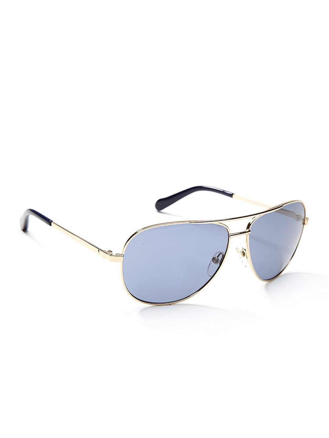 6688174ac1 Fossil Fos3010s 03yg Alex Aviator Sunglasses - Light Gold Blue Lens at  Amazon Men s Clothing store