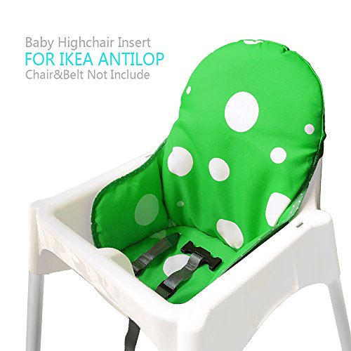 - Ikea Antilop Highchair Seat Covers & Cushion by AT, Washable Foldable Baby Highchair Cover Ikea Childs Chair Insert Mat Cushion (Dark Green)