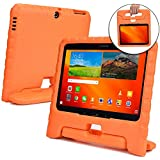 Cooper Dynamo [Rugged Kids Case] Protective Case for Samsung Tab 4 10.1, Tab 3 10.1   Child Proof Cover with Stand, Handle   SM-T530 T531 T535 (Orange)