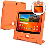 Samsung Galaxy Tab 4 10.1 case for kids, fits Galaxy Tab 3 10.1 [SHOCK PROOF KIDS TAB 10.1 CASE] COOPER DYNAMO Kidproof Child Tab 4 10.1 inch Cover for School | Kid Friendly Handle & Stand (Orange)