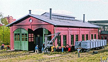 Walthers Cornerstone Series Kit HO Scale 2-Stall Engine House & Accessories Engine House