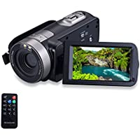 KKSANN HD 1080P Camcorder Digital Video Camera DV 3.0 TFT LCD Screen 16x Zoom 270 Degrees Rotation for Sport /Youtube/Short Films Video Recording