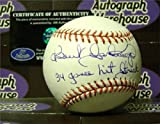 Benito Santiago autographed baseball inscribed 34 Game Hit Streak (San Diego Padres 1987 NL Rookie of Year) AW Certificate of Authenticity OMLB