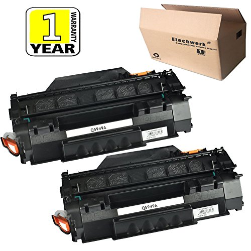 (Etechwork 2 Pack 49A Q5949A Toner Cartridge Black Replacement for Laserjet 1160 1160LE 3390 3392 1320 1320N 1320NW 1320T 1320TN)