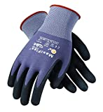 MaxiFlex 34-874 Gloves Nitrile Micro-Foam Grip Palm & Fingers(Size-L/24 Pairs)