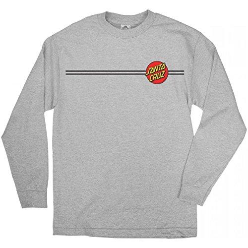 NHS Santa Cruz Classic Dot Men's Long Sleeve T-Shirts,Ath Heather,X-Large