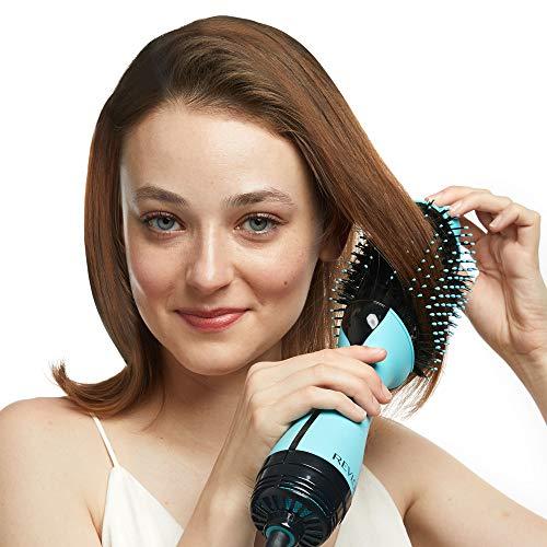 51C4XUs6LzL - Revlon One-Step Hair Dryer & Volumizer Hot Air Brush, Mint