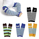 WeddingPach Baby Leg Warmers Toddler Boys Girls Cotton Leggings Kneepads for Crawling Warming 4 Pack (Color3)