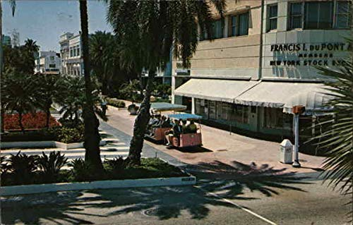 Tram in Miami Miami Beach, Florida FL Original Vintage Postcard 1969
