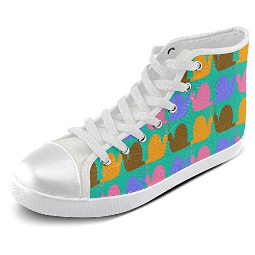 Custom For Shoes High Top Snails Men Model002 Whimsical Canvas Neon Artsadd Pattern H8xwdzHn