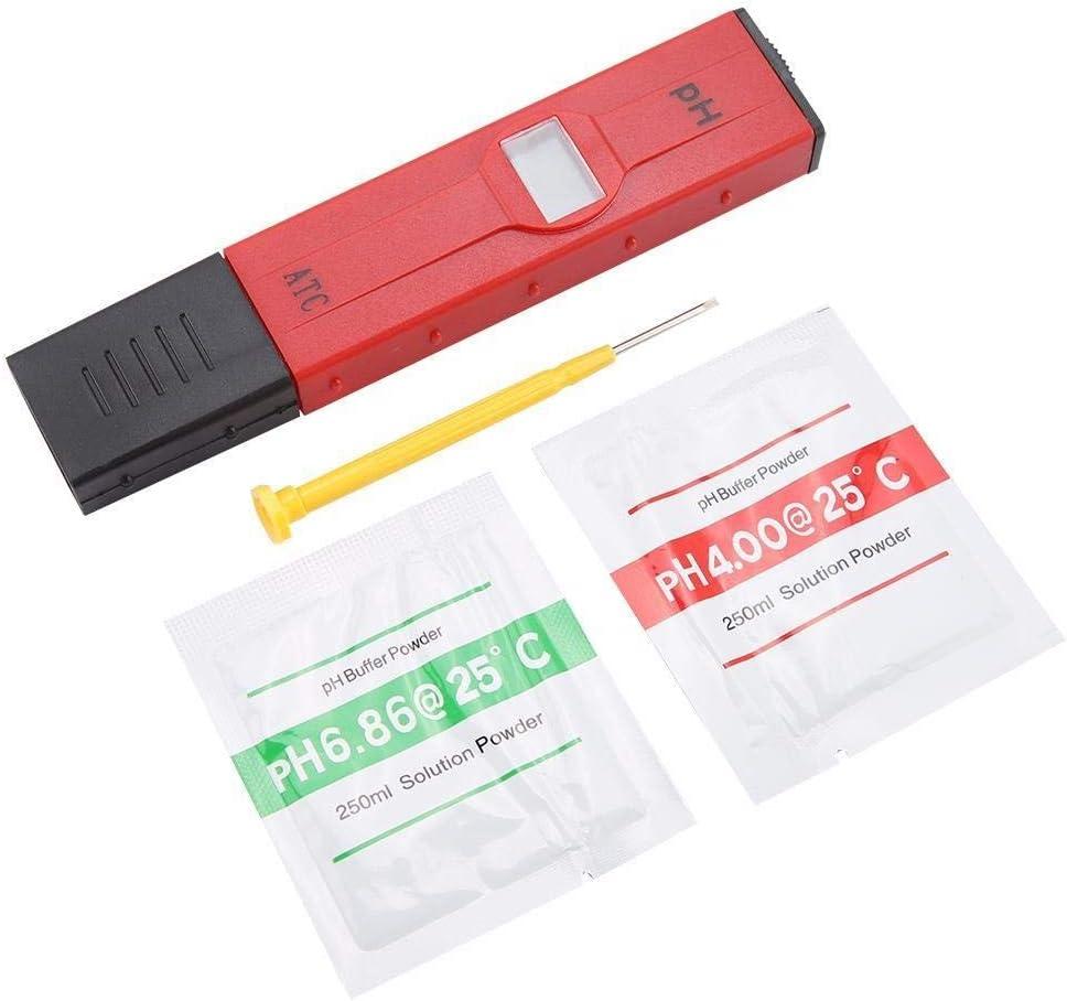 Maxmartt PH Water Tester,PH Tester LCD Digital Food Beverage PH Tester Portable Aquarium Pool Water Quality Testing Pen