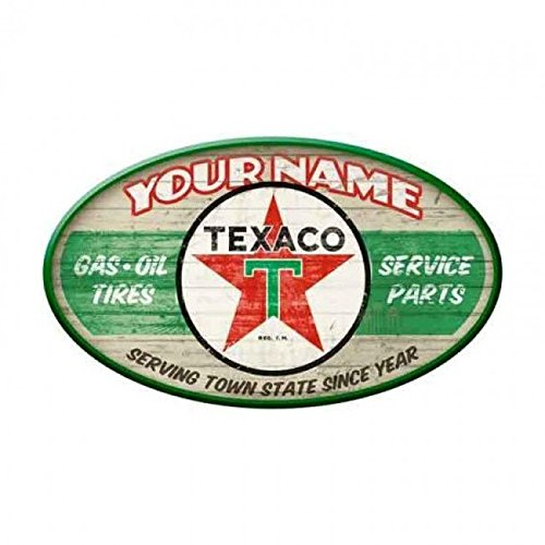 Texaco Gas Station Personalized Oval Sign (Texaco Station)