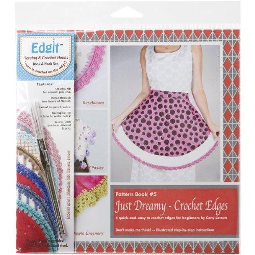 - Ammees Babies EDGIT-E116 Edgit Piercing Crochet Hook and Book Set, Just Dreamy Crochet Edges