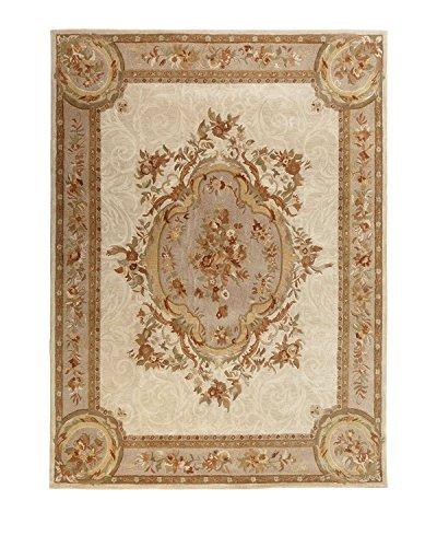Safavieh Empire Collection EM414C Handmade Traditional European Ivory and Light Grey Premium Wool Area Rug (9'6